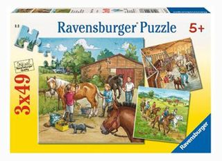 A DAY WITH HORSES PUZZLE 3X49 PCE