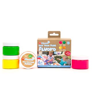 EASY WASH PAINT FLUORO 60ML TUBS PACK 4