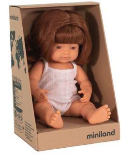 MINILAND 38CM BABY GIRL CAUCASIAN RED