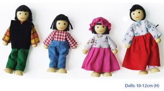 DOLL FAMILY - 4 PCE ASIAN FAMILY