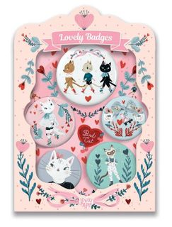 LOVELY PAPER BADGES CATS