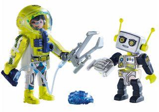 PLAYMOBIL ASTRONAUT & ROBOT DUO 9492