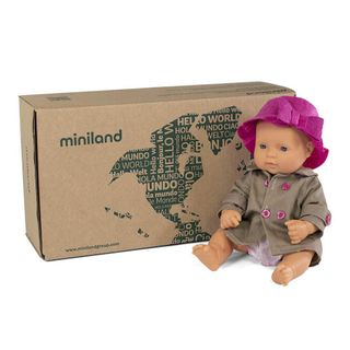 MINILAND BOXED BABY DOLL GIRL 32CM