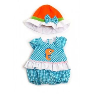 MINILAND 32CM LIGHT ROMPER & HAT