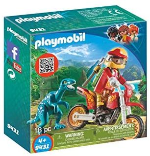 PLAYMOBIL MOTOCROSS BIKE W/ RAPTOR 9431