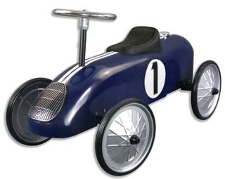 METAL RIDE ON RACING CAR NAVY
