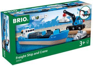 BRIO CONTAINER & CRANE WAGON 33534