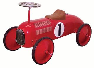 METAL RIDE ON RACING CAR RED