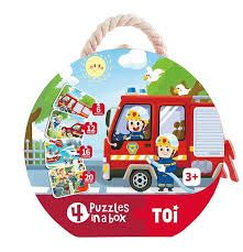 4 IN 1 PUZZLES FIREMEN