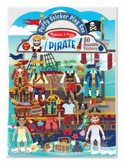 REUSABLE PUFFY STICKERS PIRATE