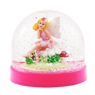 ACRYLIC SNOW GLOBE FOREST FAIRY