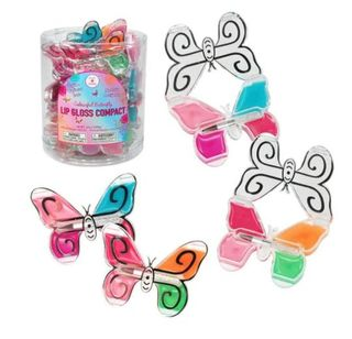 COLOURFUL BUTTERFLY LIP GLOSS COMPACT