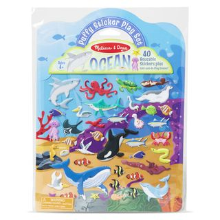 REUSABLE PUFFY STICKERS OCEAN