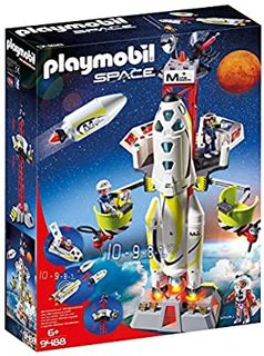 PLAYMOBIL MISSION ROCKET LAUNCH SIT 9488