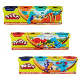 PLAYDOH CLASSIC COLOURS 4 PACK