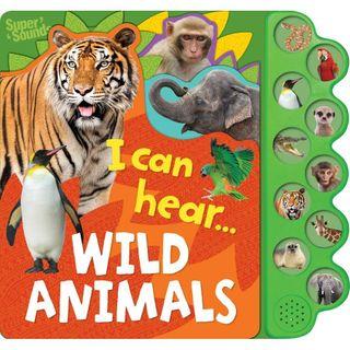 10 BUTTON SOUND I CAN HEAR WILD ANIMALS