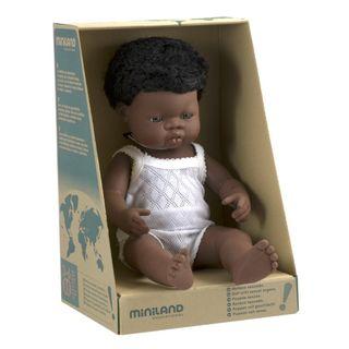 MINILAND 38CM BABY BOY AFRICAN
