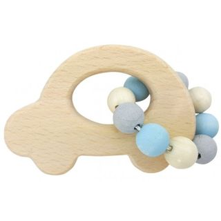 HESS SPIELZEUG RATTLE CAR NATURAL BLUE