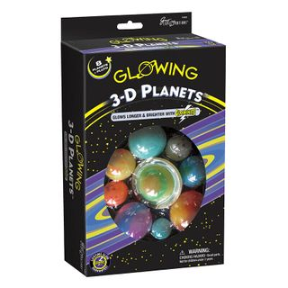 GLOWING 3D PLANETS