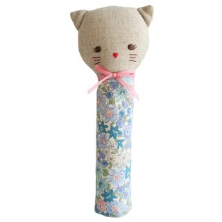 HAND SQUEAKER ODETTE KITTY LIBERTY BLUE