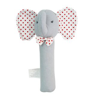 HAND SQUEAKER BABY ELEPHANT GREY