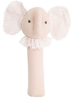 HAND SQUEAKER BABY ELEPHANT PINK