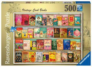 VINTAGE COOK BOOKS PUZZLE 500 PCE