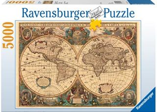 HISTORICAL WORLD MAP PUZZLE 5000 PCE