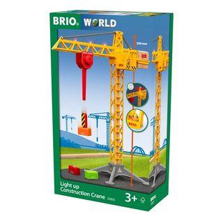 BRIO CONSTRUCT CRANE W LIGHTS 5PCE 33835