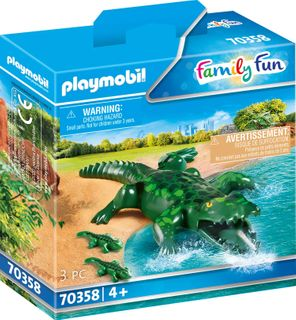 PLAYMOBIL ALLIGATOR WITH BABIES 70358