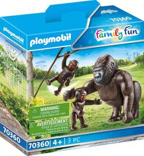 PLAYMOBIL GORILLA WITH BABIES 70360
