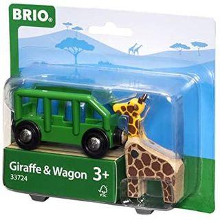 BRIO GIRAFFE & WAGON 2 PCES 33724
