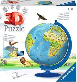 CHILDREN'S GLOBE 3D PUZZLEBALL 180 PCES