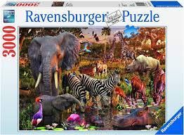 AFRICAN ANIMAL WORLD PUZZLE 3000 PCE