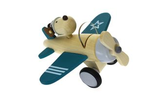 RETRO LARGE PLANE WITH CUTE DOG DRIVER