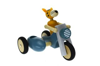 RETRO LARGE MOTOR TRICYCLE WITH LEOPARD