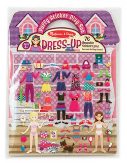 REUSABLE PUFFY STICKERS DRESSUP