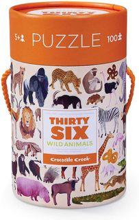 36 ANIMAL PUZZLE 100 PCE WILD ANIMALS