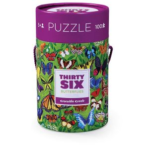 36 ANIMAL PUZZLE 100 PCE BUTTERFLIES