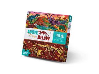 ABOVE & BELOW PUZZ 48 PCE DINO WORLD