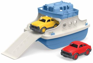GREEN TOYS FERRY BOAT WITH 2 MINI CARS
