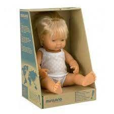 MINILAND 38CM BABY BOY CAUCASIAN BLOND