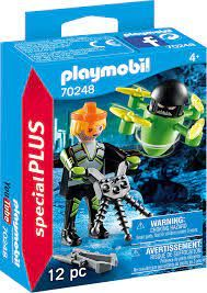 PLAYMOBIL AGENT WITH DRONE 70248