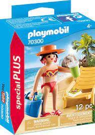 PLAYMOBIL SUNBATHER W LOUNGE CHAIR 70300