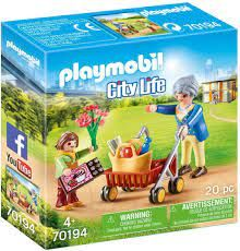 PLAYMOBIL GRANDMOTHER WITH CHILD 70194