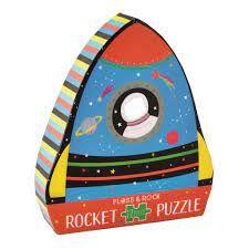 FLOSS & ROCKS SHAPED PUZZ ROCKET 12 PCES