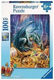 DRAGONS TREASURE PUZZ 100 PCES