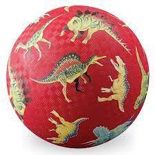 """PLAYGROUND BALL 7"""" DINOSAURS RED"""