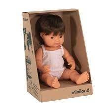 MINILAND 38CM BABY BOY CAUCASIAN BRUNETT