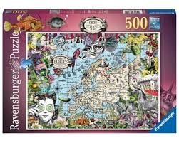 EUROPEAN MAP QUIRKY CIRCUS PUZZ 500 PCES